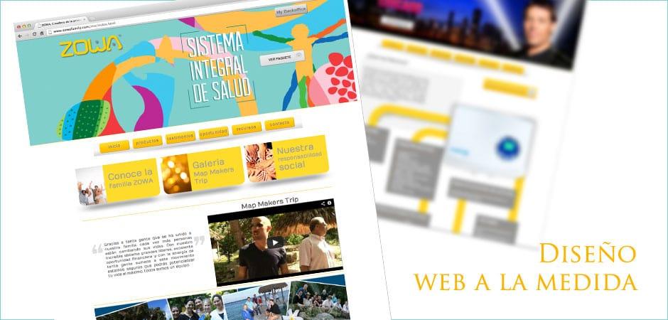 ZOWA Family diseño web