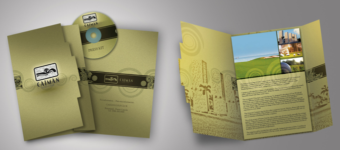 diseño gráfico para campo de golf