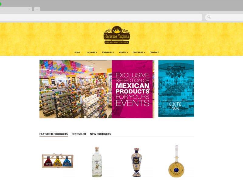 diseño web cancun - Hacienda Tequila 1